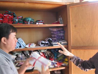 村へ届ける材料の棚s