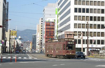 熊本市内の電車