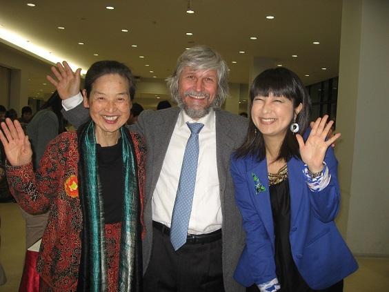 ルディさんイタリア(WFTO=国際フェアトレード機構会長)と原田&土井