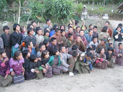 ブータン チモン村の子どもたち(土井ゆきこ撮影)